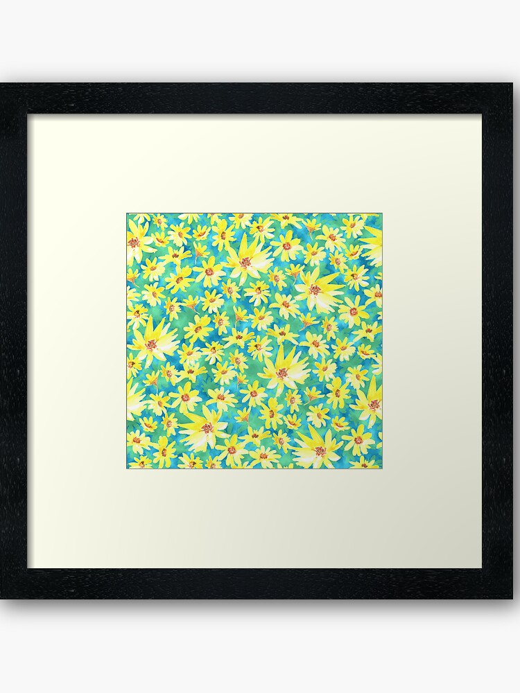 yellow prairie framed art