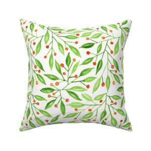 wild meadow berries throw pillow