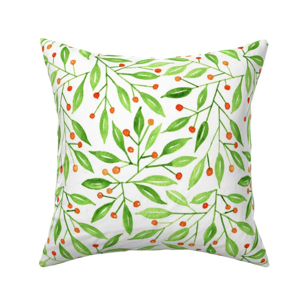 wild meadow berries throw pillow
