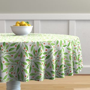 wild meadow berries table cloth
