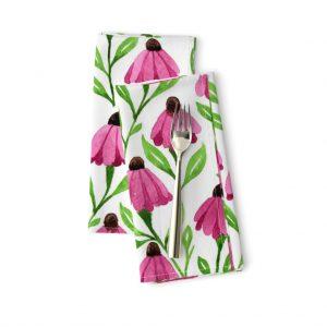 cone flowers napkins