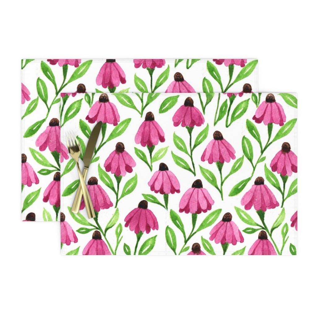 cone flowers place mats