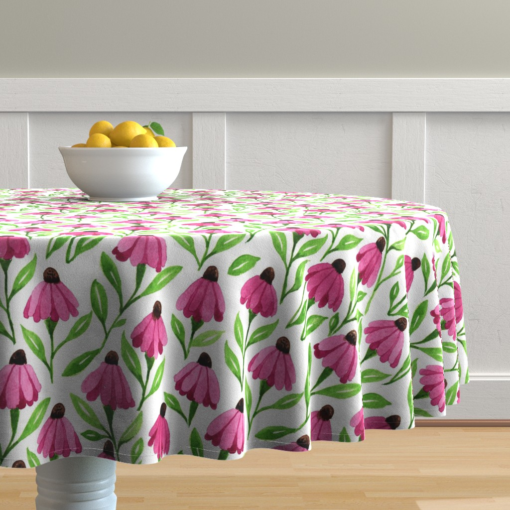 cone flower table cloth