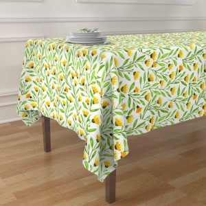 yellow meadow table cloth