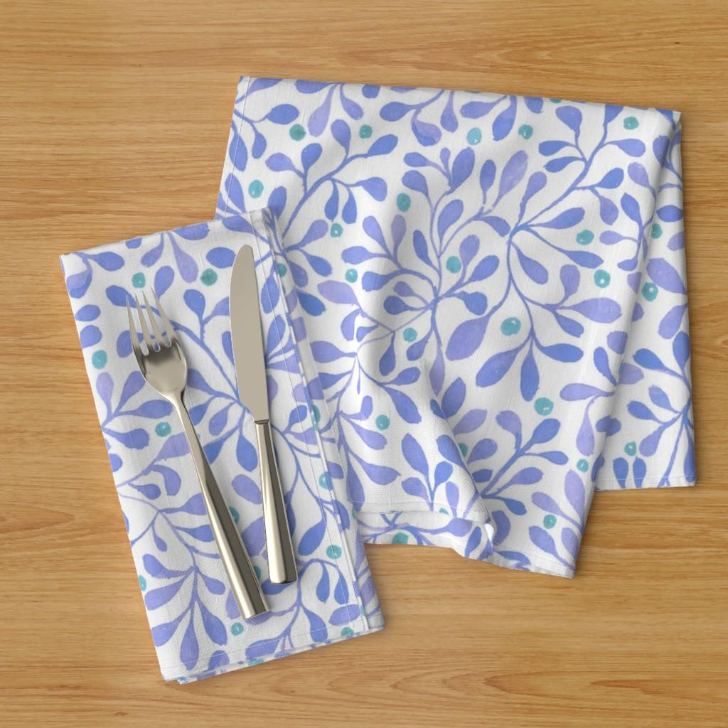 meadow berries blue napkins