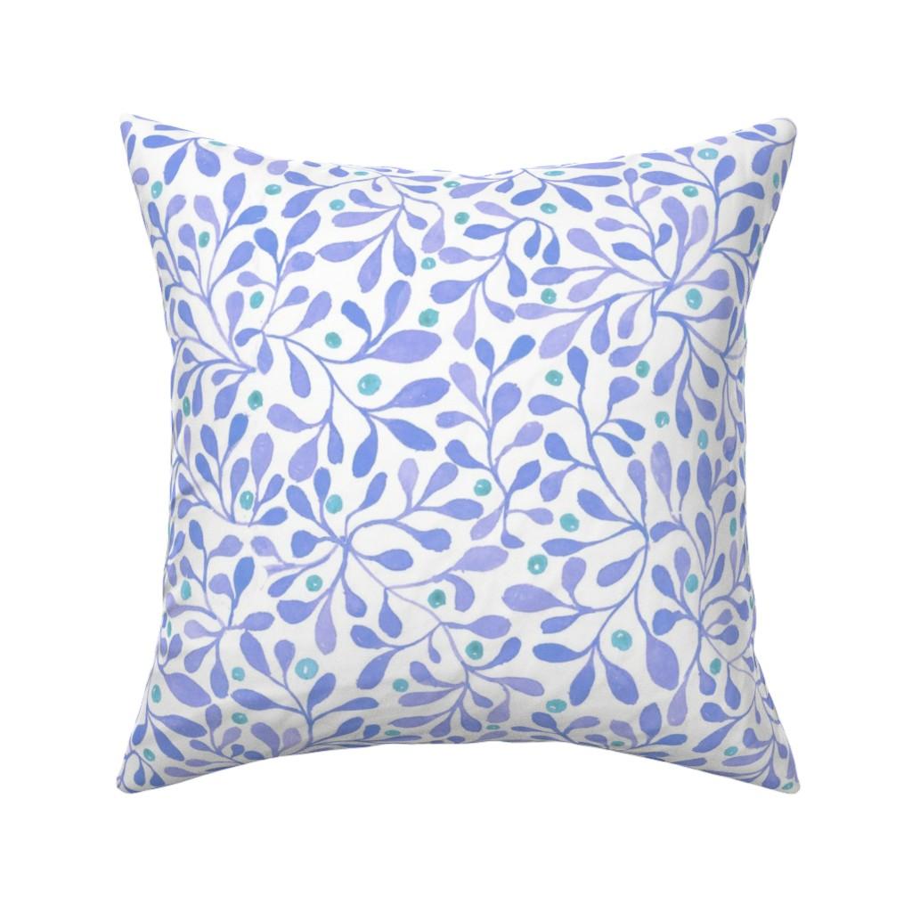 fall berries blue throw pillow