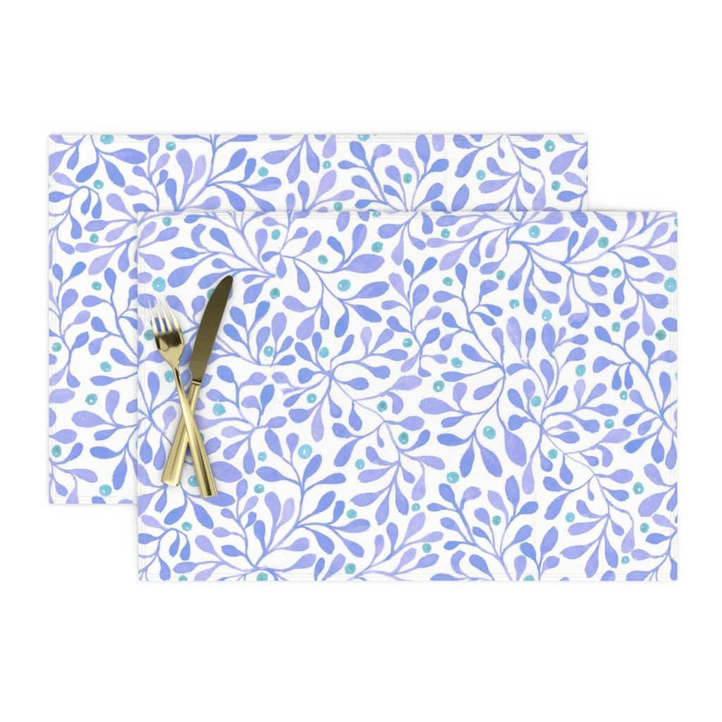 meadow berries blue place mats