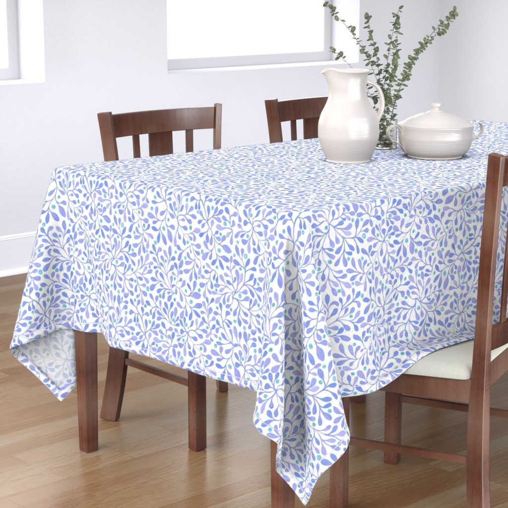 meadow berries blue table cloth
