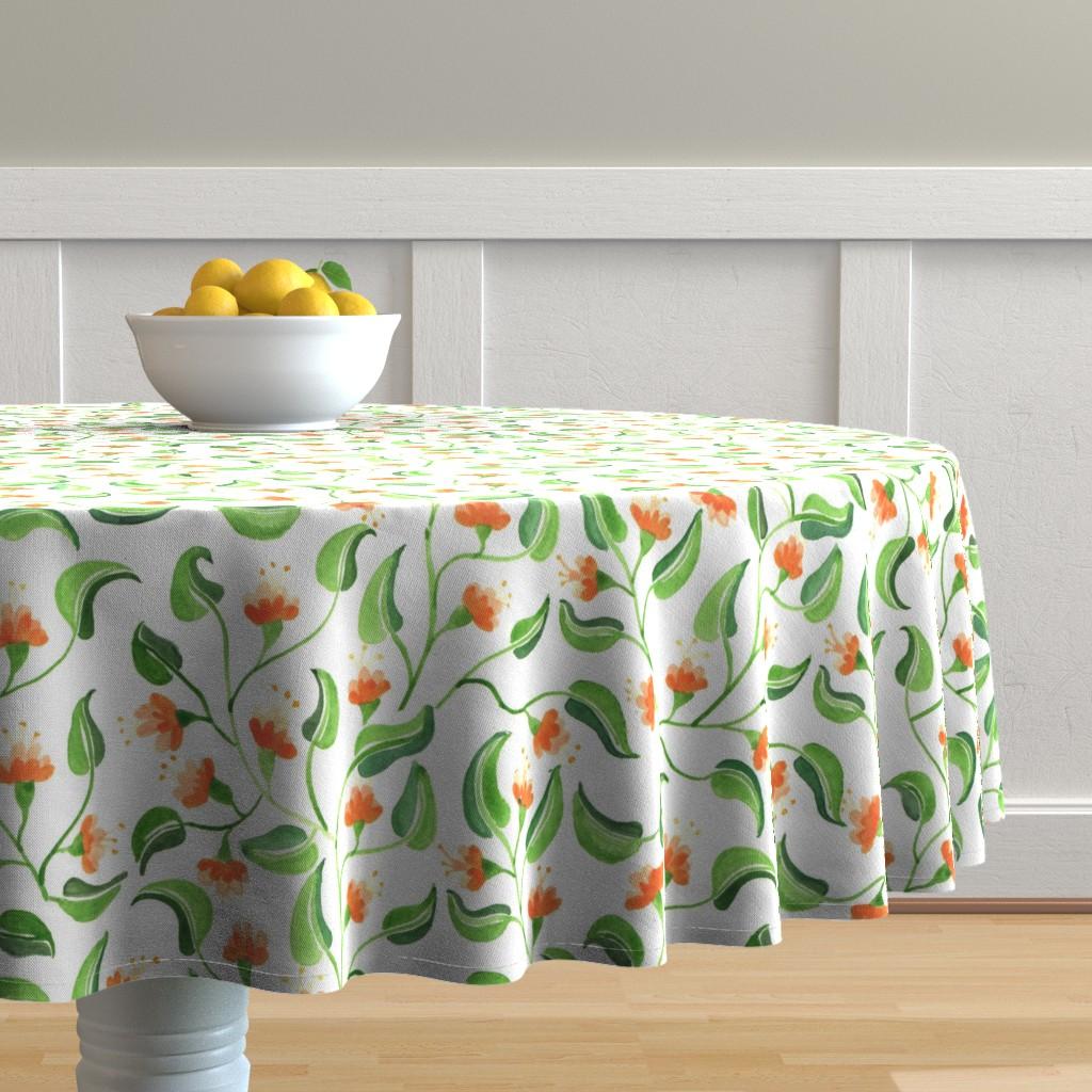 Jewel weed table cloth