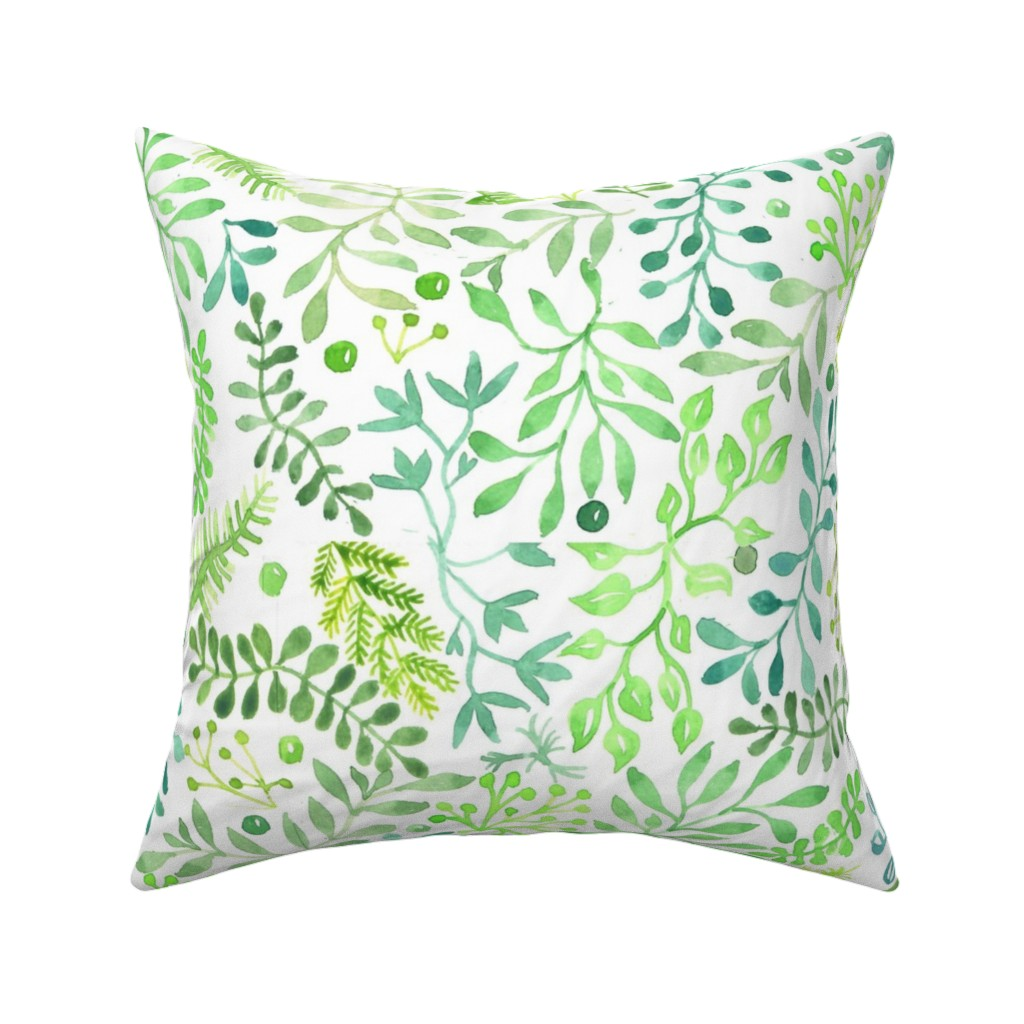 prairie foliage throw pillow