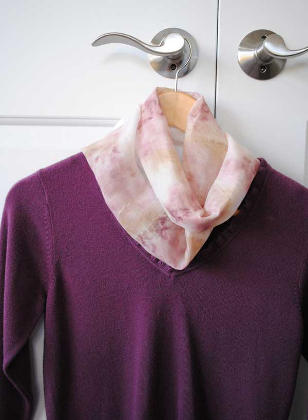 eco dyeing fabric scarf