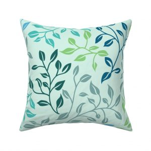 leafy lovliness throw pillow