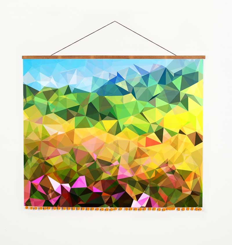 abstract wall hanging