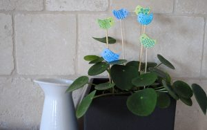 air dry clay birds planter decor