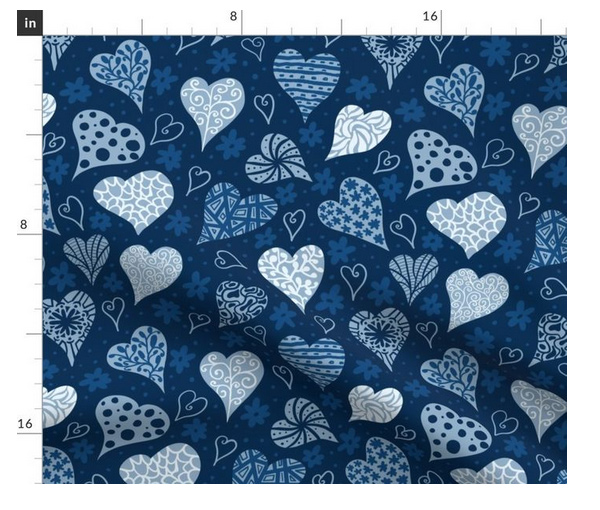 boho hearts pattern