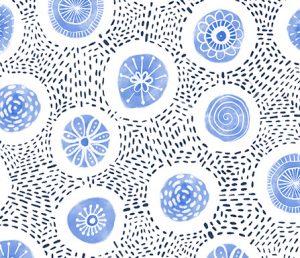 boho light blue circles