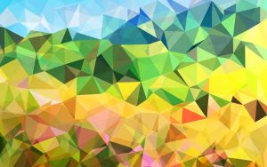 hillside fabric abstract wall hanging