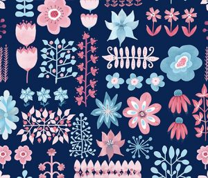 pretty in pink on navy