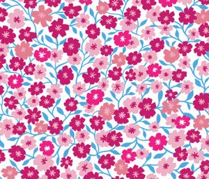 ditsy flower fabric pink