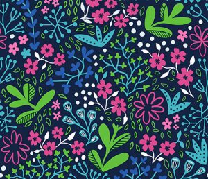 ditsy night garden fabric