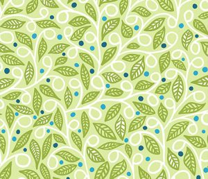 spreing leaves fabric