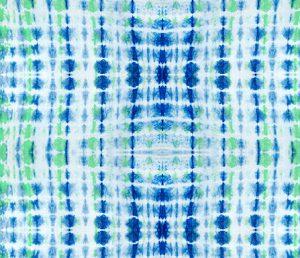indigo green lines tie dye pattern design