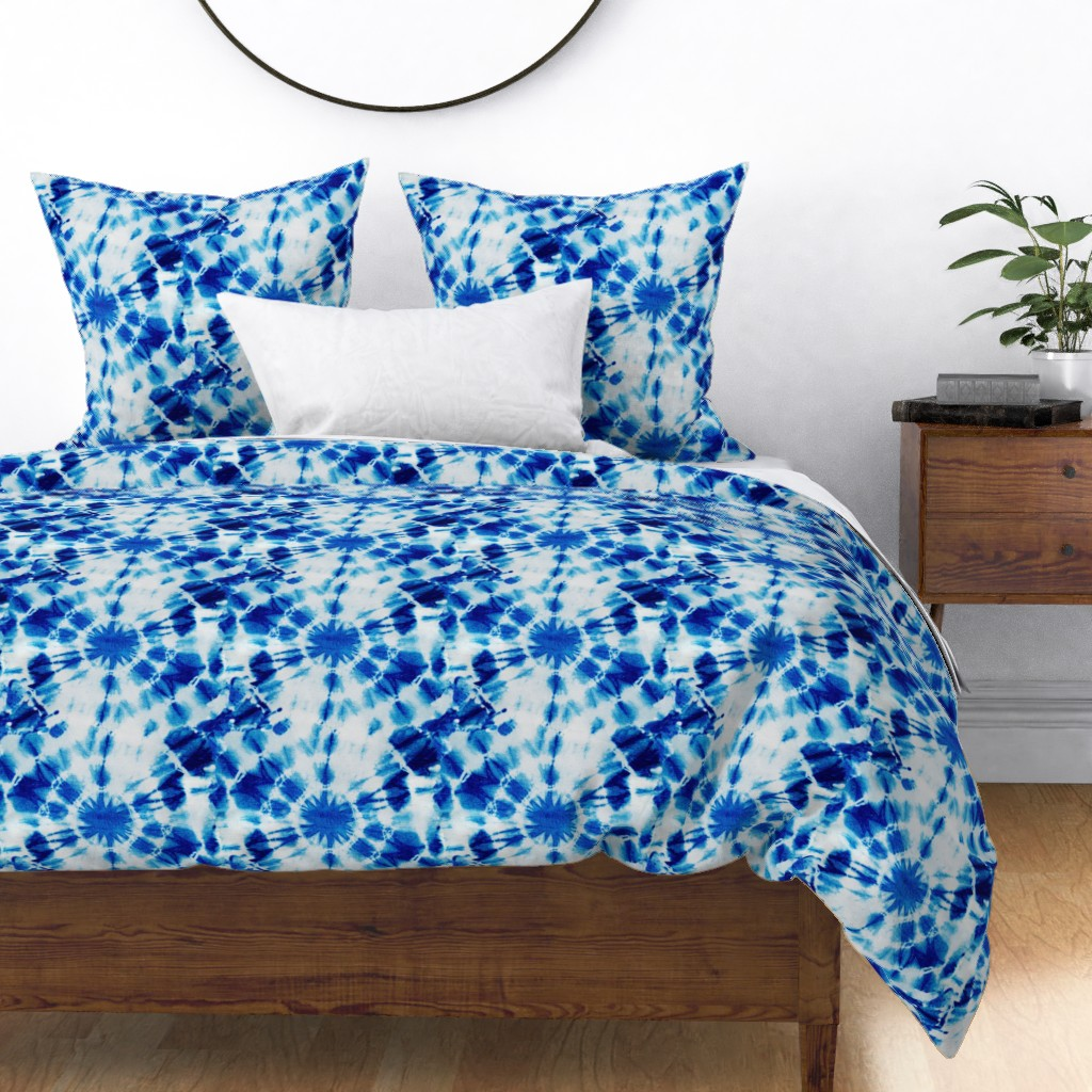 ink splat tie dye bedding