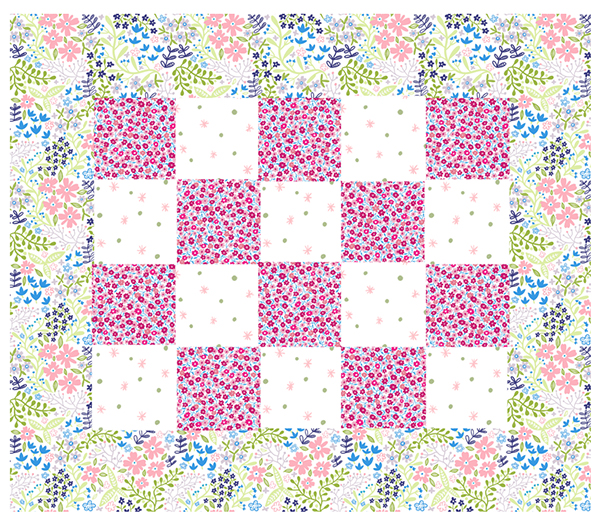 cheater quilt springtime collection