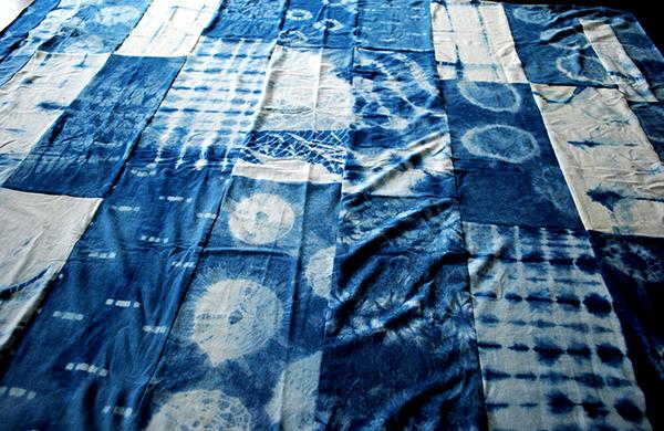 tie dye fabric quilt
