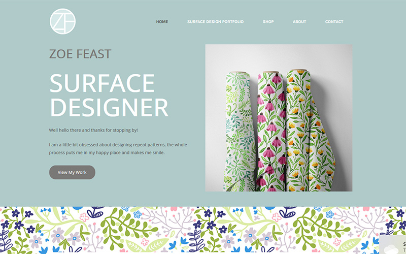 zoe feast surface designer
