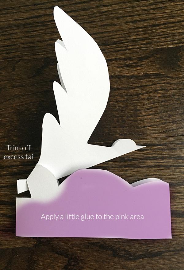 bird popup card template