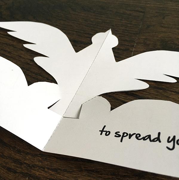 bird pop up card template