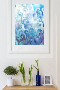 tessellated art watercolor framed