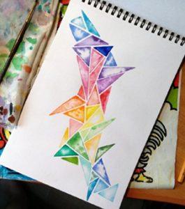 watercolor triangles