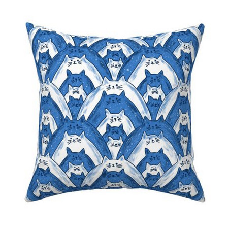cat fabric throw pillow