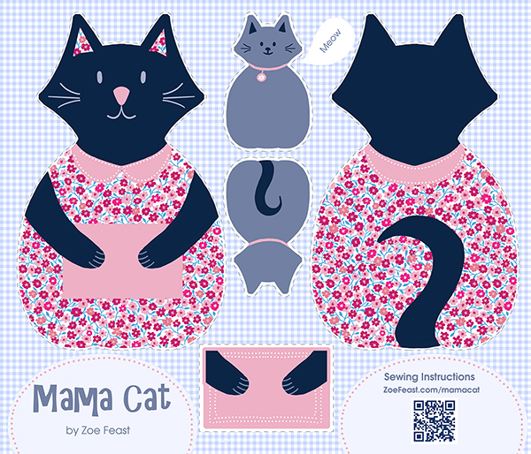 mama cat cut and sew project