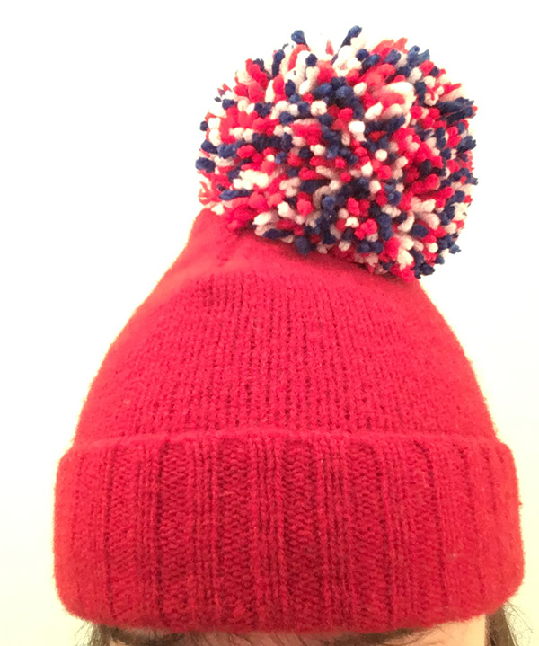 sew a hat from a sweater