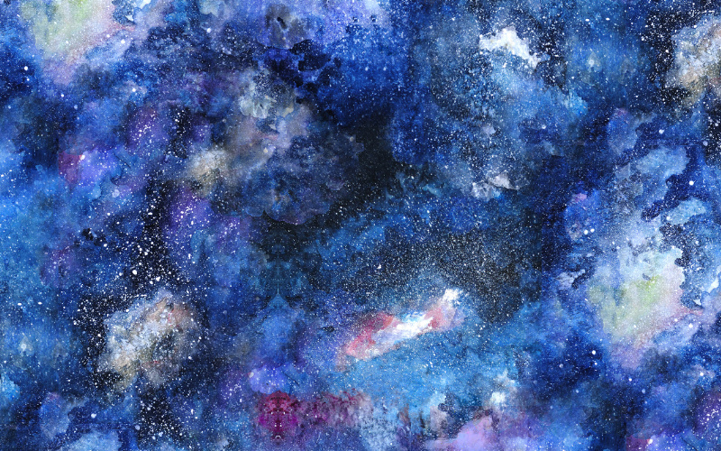 space dust painting
